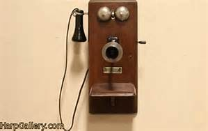An old oak telephone c. 1910