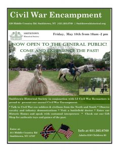 Civil War Encampment – Smithtown Historical Society